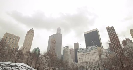 Fototapete - Central Park in Snow in New York City