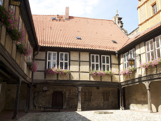 Quedlinburg - Innenhof am Dom
