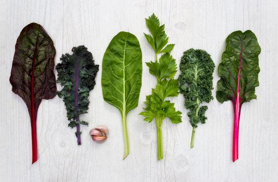 Spectrum of healthy green vegetable