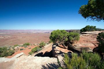 Long views at Canyonlands National Park near Moab, Utah