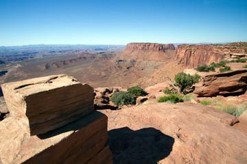 Long views at Canyonlands National Park near Moab, Utah