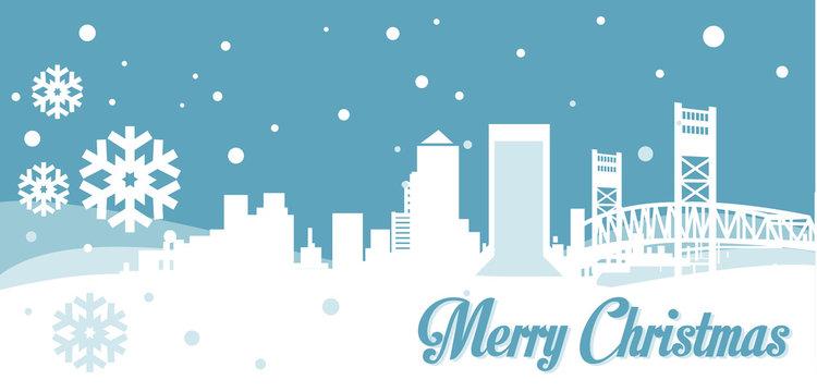 Jacksonville Christmas Skyline