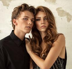 Portrait of fashion couple