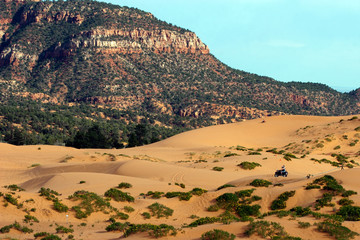 Coral Pink Sand Dunes State Park in Utah is a popular recreation spot for ORV enthusiasts