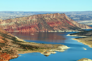 Red Canyon and the Green River inside Flaming Gorge National Recreation Area in Utah