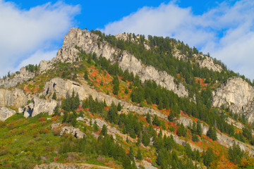 Autumn color in the Ogden River Valley in the Wasatch Mountains of Utah
