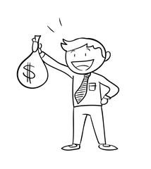 Image result for 2 BLACK MEN HOLDING MONEY