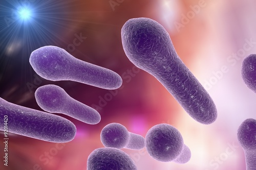 """Digital illustration of Clostridium tetani, Clostridium ..."