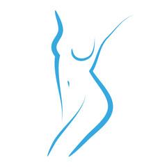 Obraz kobieta logo wektor - fototapety do salonu