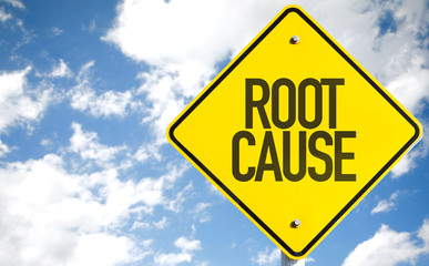 Root Cause sign with sky background