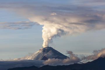 Cotopaxi volcano eruption