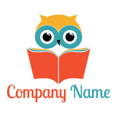 book and owl logo