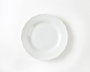 Elegant white dinner plate