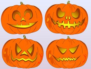 Halloween, jack-o'-lantern pumpkin