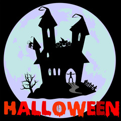 Seamless pattern on the theme of Halloween, wrapping paper, jack-o'-lantern pumpkin
