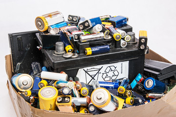 Sammlung von Altbatterien