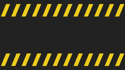 Light grunge black and yellow caution sign background.