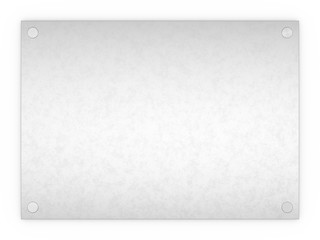 Blank textured metal rectangle sign plaque isolated on a white b