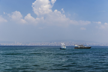 Panorama of Istanbul from the Marmara Sea