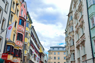 historic buildings in the town center of Innsbruck, Austria