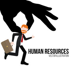 human resources illustration over white color background