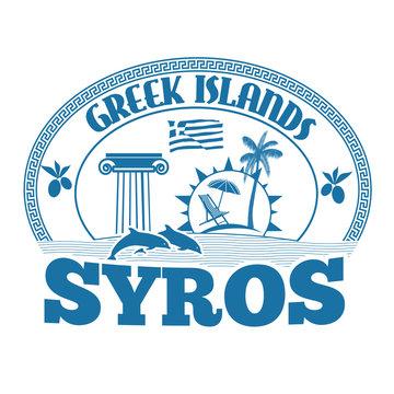 Syros stamp