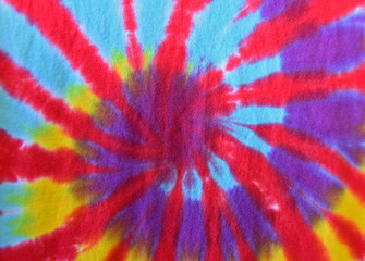 retro tie-dye abstract on fabric