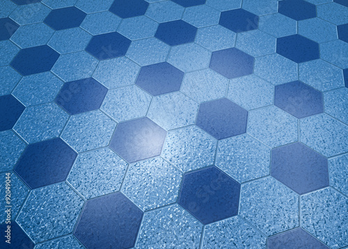 Mattonelle esagonali texture d rendering di bagno senza colore e