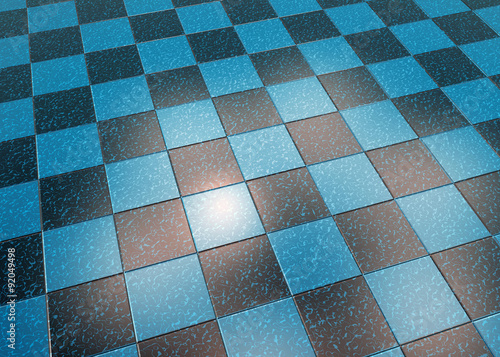 Pavimento in marmo, blu a piastrelle nere\