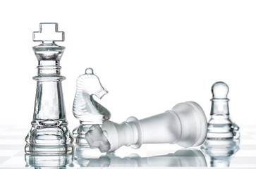 Checkmate Strategy on chess board, business War Winning