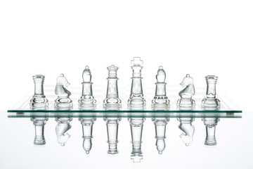 Business choice leadership achievement glass chess transparent