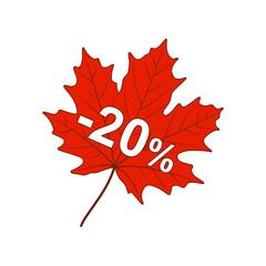 Autumn discount-20%