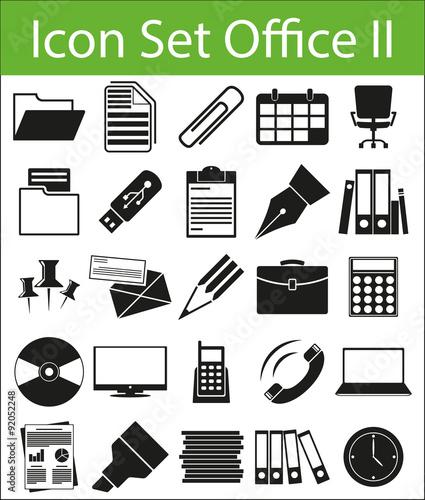 icon set office ii fichier vectoriel libre de droits sur la banque d 39 images. Black Bedroom Furniture Sets. Home Design Ideas