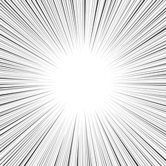 Comic speed radial line background
