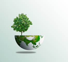 Wall Mural -  World tree day concept eco environment