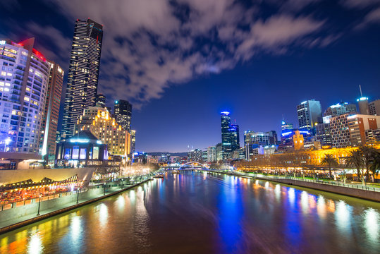 Melbourne city the world's most liveable city, Australia.