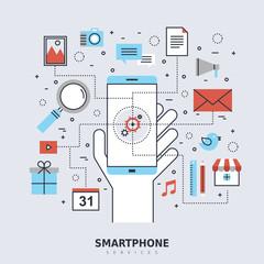 smartphone services concept