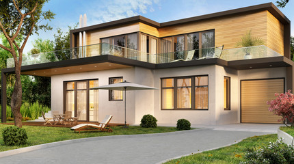 Beautiful modern house with garage