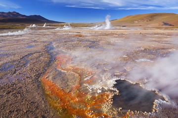 El Tatio Geysers in the Atacama Desert, northern Chile