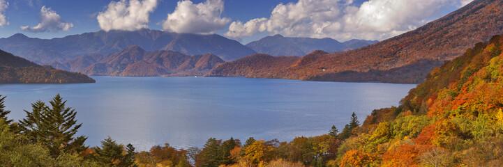 Lake Chuzenji near Nikko, Japan in autumn
