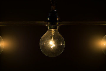 Lightbulb vintage illuminated
