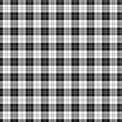 Clan Erskine Black and White Tartan