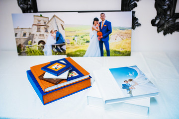 wedding photo book and album with picture