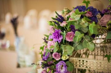 Close-up of purple flower bouquet