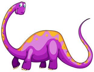 Purple dinosaur with long neck