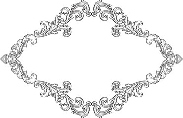 The acanthus art  nice baroque page