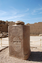 The sacred scarab beetle in Luxor