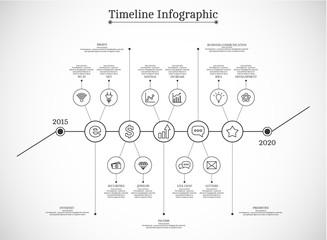 Timeline Infographic design templates # 4
