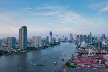 Bangkok City Skyline and Travel place