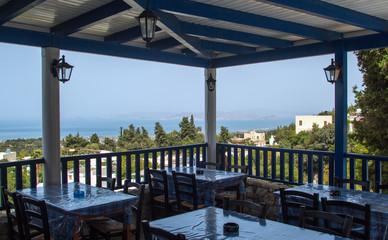 Meerblick von dem Ort Zia auf der Insel Kos, Griechenland